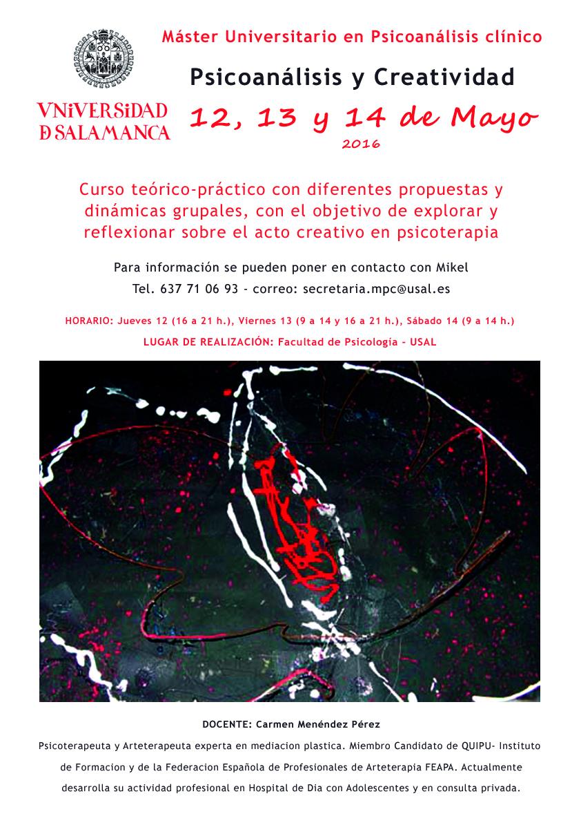 Curso Arteterapia Universidad Salamanca 2016