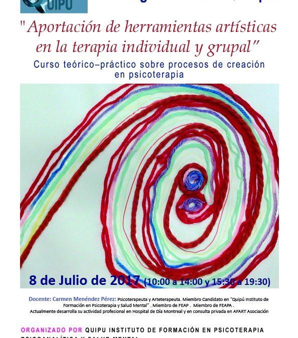 Curso: Aportación de herramientas artísticas  en la terapia individual y grupal